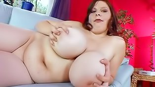 BBW slut masturbates and fucks