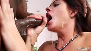 MILF enjoying BBC blowjobs