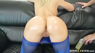 Oily slut gets fucked hard