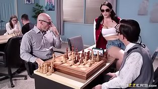 Chess-playing teen gets fucked