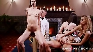 Unfaithful wives enjoy an orgy