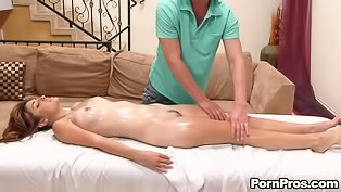 Full body rubdown with hard sex