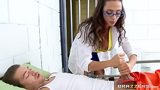 Horny MILF doctor gets fucked