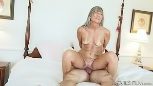 Granny gets drilled by a young cock