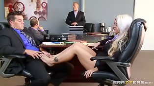 Hard office sex with a blonde