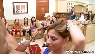 Crazy CFNM party with hot babes