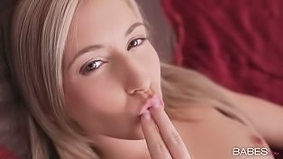 White panties blonde teasing her pussy
