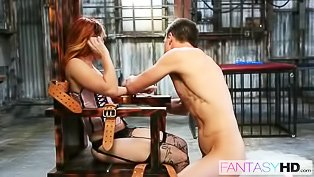 Redhead loves the submission