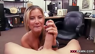 Round booty blonde gets boned hard